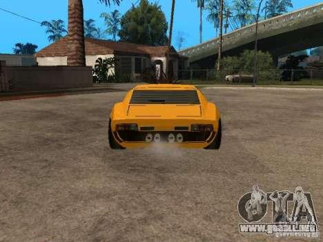 Lamborghini Miura para GTA San Andreas vista posterior izquierda