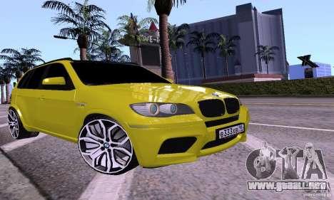 BMW X5M oro para GTA San Andreas