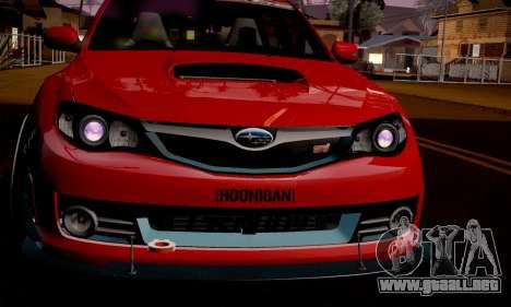 Subaru Impreza WRX Camber para GTA San Andreas left