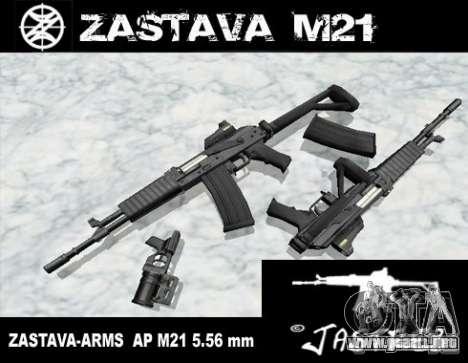 Zastava Arms M21 Final para GTA San Andreas