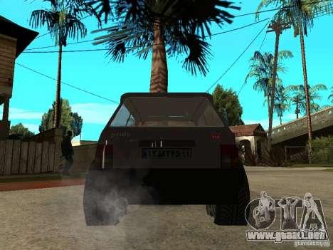 Kia Pride para GTA San Andreas vista posterior izquierda