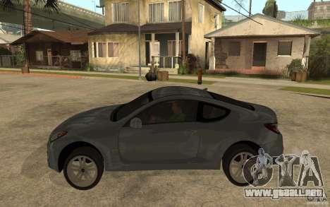 Hyundai Genesis Coupe 2010 para GTA San Andreas left