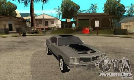 Sable de GTA 4 para GTA San Andreas vista hacia atrás