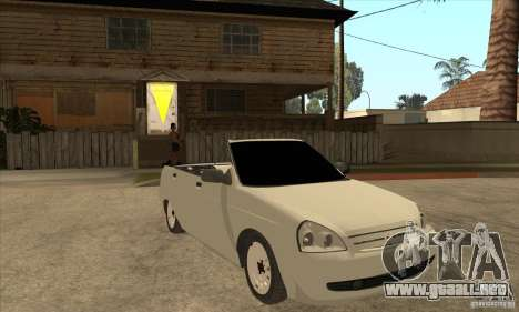 VAZ LADA Priora convertible para GTA San Andreas vista hacia atrás