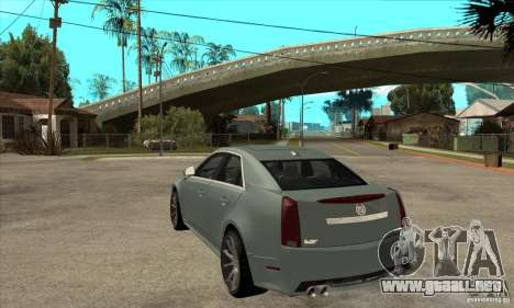 Cadillac CTS-V para GTA San Andreas vista posterior izquierda