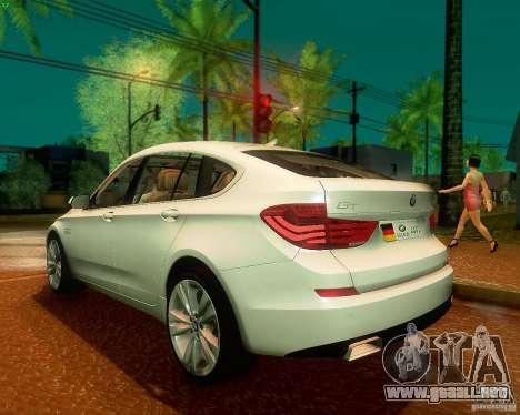 BMW 550i GranTurismo 2009 V1.0 para la visión correcta GTA San Andreas