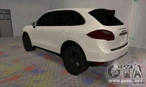 Porsche Cayenne Turbo Black Edition para la visión correcta GTA San Andreas