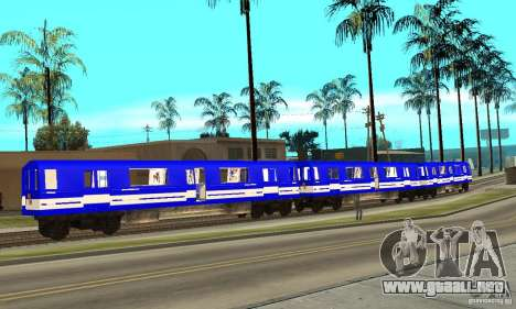 Liberty City Train Sonic para GTA San Andreas left