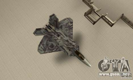 F-22 Starscream para la visión correcta GTA San Andreas