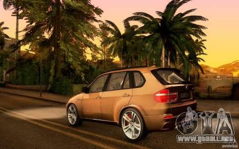 BMW X5M  2011 para visión interna GTA San Andreas