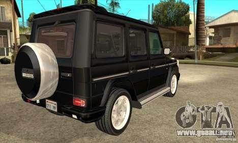 Brabus B11 W463 2008 v1.0 para la visión correcta GTA San Andreas