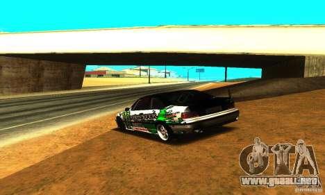BMW E36 Drift para GTA San Andreas vista hacia atrás