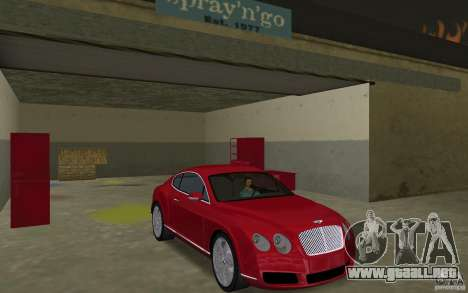 Bentley Continental GT (Final) para GTA Vice City vista posterior