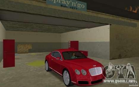 Bentley Continental GT (Final) para GTA Vice City vista posterior
