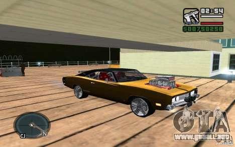 Dodge Charger R/T 1969 para GTA San Andreas vista hacia atrás