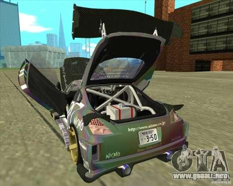 Nissan 350Z Fairlady para visión interna GTA San Andreas