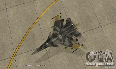 Su-37 Terminator para la visión correcta GTA San Andreas