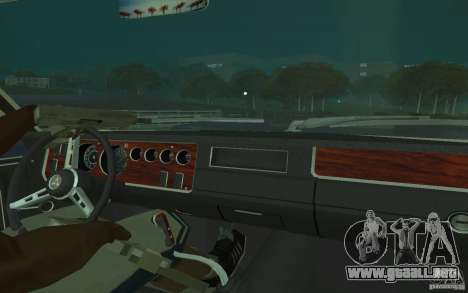 Dodge Coronet Super Bee 1970 para vista lateral GTA San Andreas
