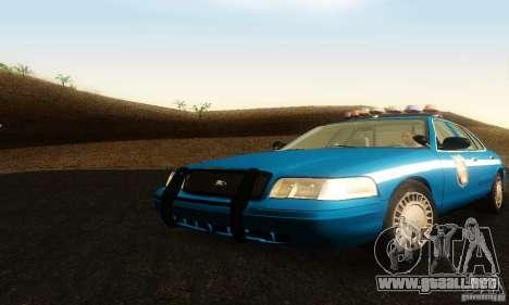 Ford Crown Victoria Wisconsin Police para GTA San Andreas