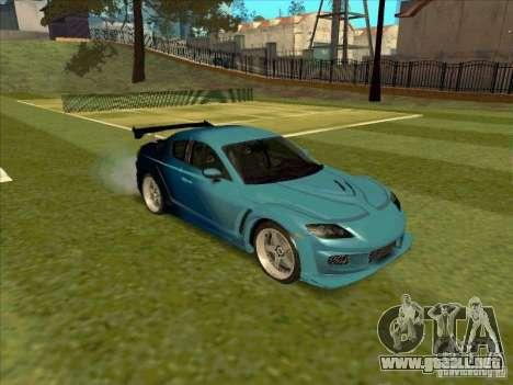 Mazda RX-8 VeilSide from Tojyo Drift para la visión correcta GTA San Andreas
