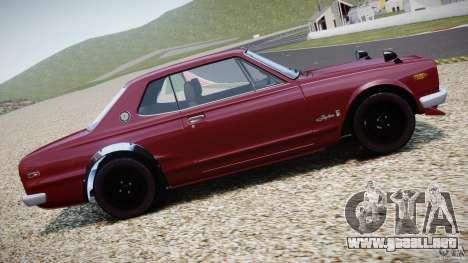 Nissan Skyline 2000 GT-R para GTA 4 vista desde abajo
