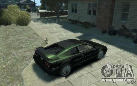 Lotus Esprit V8 para GTA 4 visión correcta