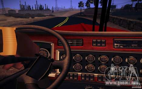 Kenworth W 900L para vista inferior GTA San Andreas