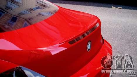 BMW M6 Orange-Black Bullet para GTA 4 vista desde abajo