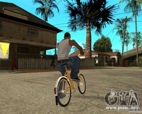 Cigüeña para GTA San Andreas vista posterior izquierda