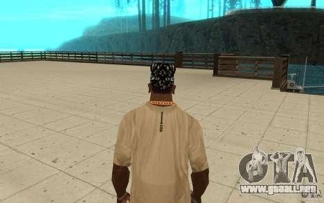 Aptitudes de Bandana para GTA San Andreas tercera pantalla
