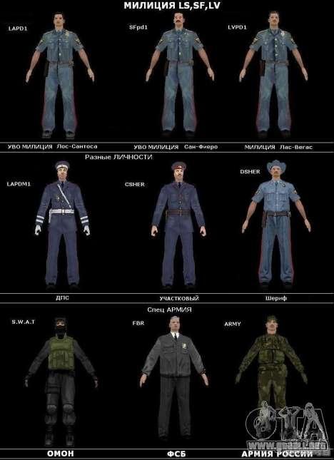 Servicio de seguridad ruso para GTA San Andreas