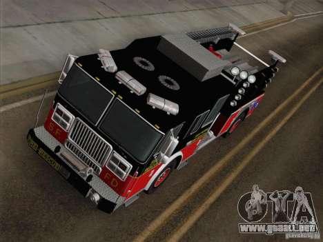 Seagrave Marauder Engine SFFD para GTA San Andreas vista hacia atrás