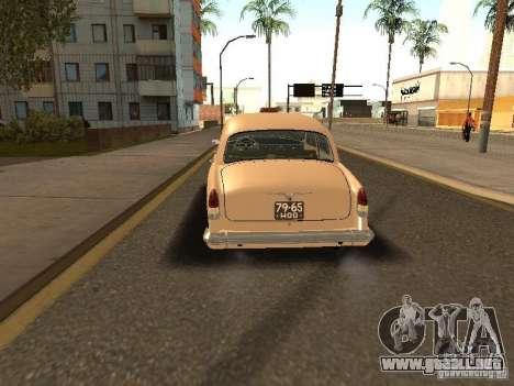 Taxi 21 Volga GAZ para GTA San Andreas vista posterior izquierda
