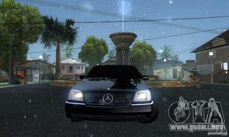 Mercedes-Benz 600SEC para GTA San Andreas vista hacia atrás