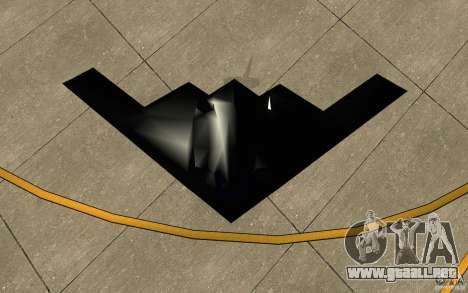 B2-Stealth para GTA San Andreas vista hacia atrás
