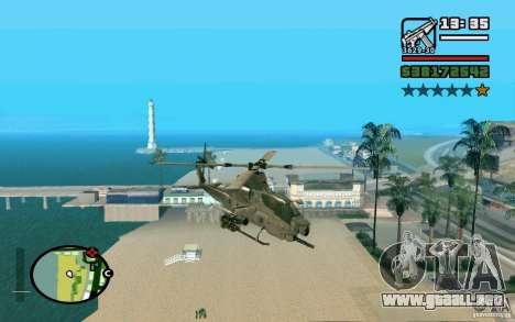 Bell AH-1Z Viper para GTA San Andreas vista posterior izquierda