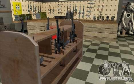Tienda de armas e. k. S. T. A. L. R para GTA San Andreas octavo de pantalla