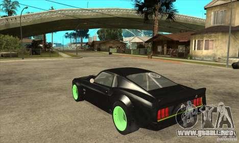 Ford Mustang RTR-X 1969 para GTA San Andreas vista hacia atrás
