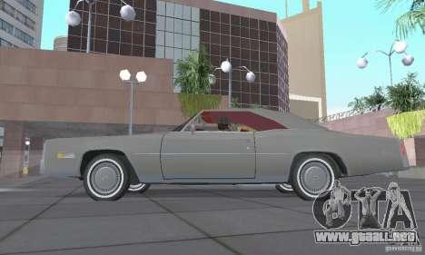 Cadillac Eldorado Convertible 1976 para GTA San Andreas vista hacia atrás