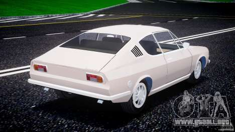 Audi 100 Coupe S para GTA 4 Vista posterior izquierda