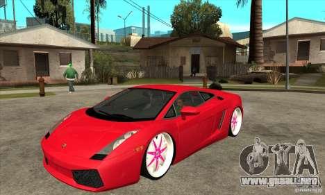 Lamborghini Gallardo White & Pink para GTA San Andreas