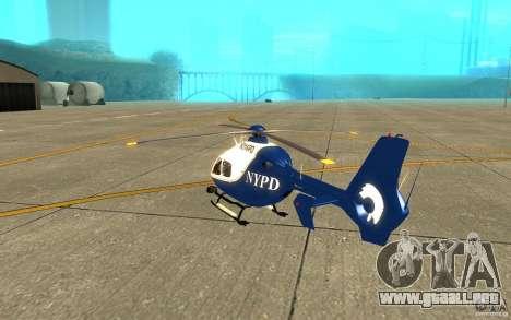 Eurocopter NYPD por SgtMartin_Riggs para la visión correcta GTA San Andreas