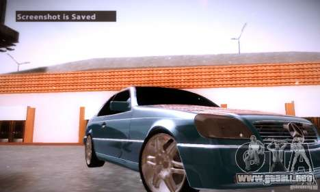 Mercedes-Benz 600SEC para la vista superior GTA San Andreas
