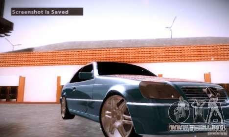 Mercedes-Benz 600SEC para la vista superior GTA San Andreas