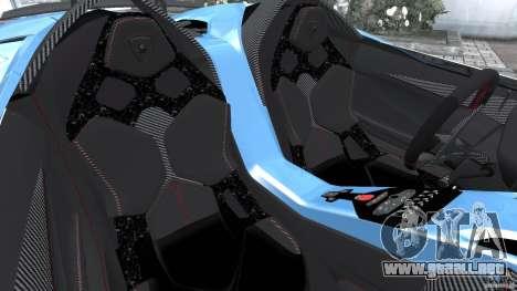 Lamborghini Aventador J 2012 v1.2 para GTA 4 vista interior