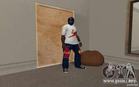 Red Bull Clothes v2.0 para GTA San Andreas quinta pantalla