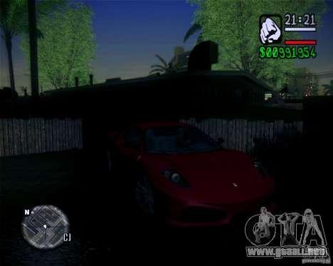 Nuevos gráficos en el juego 2011 para GTA San Andreas sucesivamente de pantalla