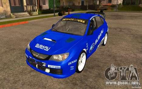 Nuevos vinilos para Subaru Impreza WRX STi para la visión correcta GTA San Andreas