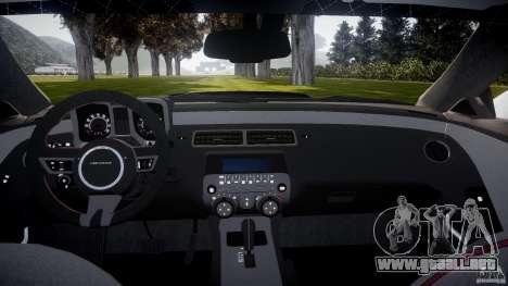 Chevrolet Camaro Police (Beta) para GTA 4 visión correcta