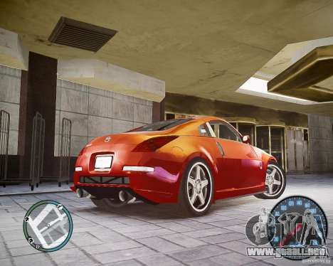 Nissan 350Z Z33 para GTA 4 Vista posterior izquierda